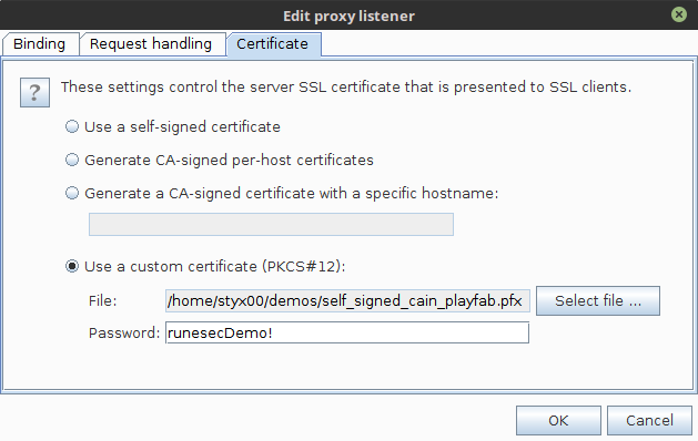 burp custom proxy certificate