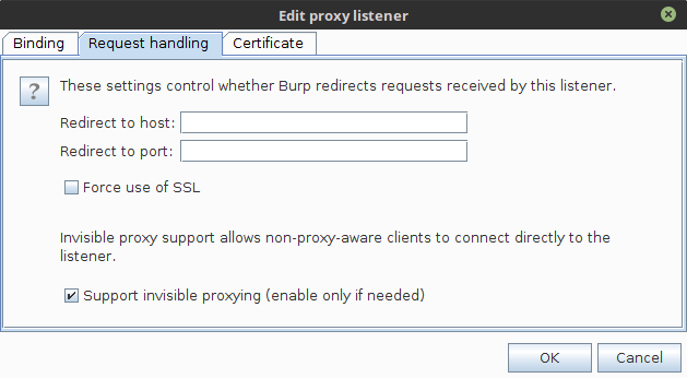 burp proxy request handling